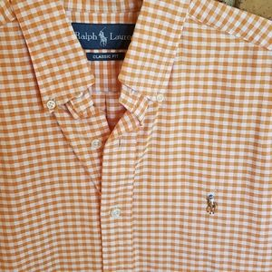 Ralph Lauren gingham button front shirt size small